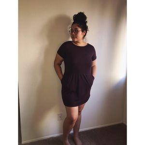 Mini dark purple dress